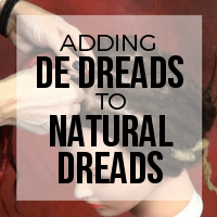 DIY: How to Add Double Ended (DE) Premade Synthetic Dreads To Natural Dreadlocks (Thread)