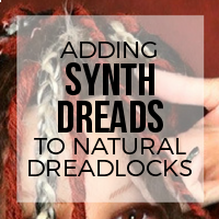 DIY: How to Add Double Ended (DE) Premade Synthetic Dreads To Natural Dreadlocks (Rubber Bands)