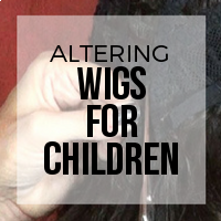 DIY: How to Alter Wigs to Fit Children