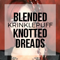 DIY: How to Create Knotty (Popcorn) Style Color Blended Dreads Using Krinklepuff Fiber