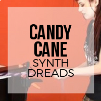 DIY: How to Create Candy Cane Striped Synthetic Dreadlocks
