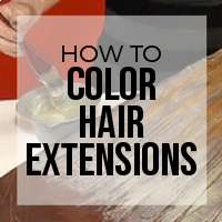 How to Color Hair Extensions Evenly