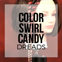 DIY: How to Create Ombre Twisted Color Swirl Synthetic Dreadlocks