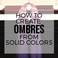 DIY: How to Blend Synthetic Fibers to Create an Ombre Effect
