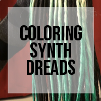 DIY: How to Color Synthetic Dreadlocks (Ombre Effect)