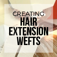 DIY: How to Make Hair Extension Wefts