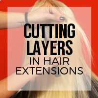How to Cut Layers in Hair Extensions