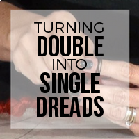 DIY: How to Turn Double Ended (DE) Dreads into Single Ended (SE) Dreads