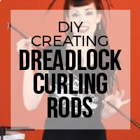 DIY: How to Create Curling Rods to Quickly Curl Synthetic Dreads