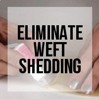 Eliminating Shedding from Hair Extension Wefts