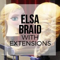 DIY: How to Create an Elsa Braid on Short Hair with Clip-In Extensions