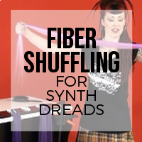 DIY: How to Shuffle Fiber to Create Tapered Ends for Synthetic Dreadlocks