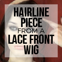 Hide Receding Edges with a Hairline Piece From a Lace Front Wig