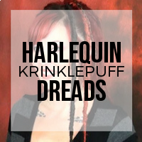 DIY: How to Create Harlequin (Half and Half) Dreads Using  Krinklepuff Fiber - No Backcombing