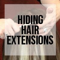 Hiding Hair Extension Attachment Points