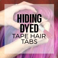 Camouflaging Dyed Tape Hair Extension Tabs