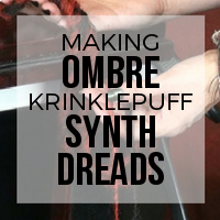 DIY: How to Create Ombre Dreads Using Krinklepuff Fiber - No Backcombing