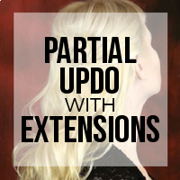 How to Create a Partial Updo with Hair Extensions Installed