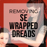 DIY: Single Ended (SE) Wrapped Dreads On Client Removal