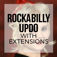 How to Create a Rockabilly Updo with Hair Extensions Installed