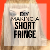 DIY: How to Create Hair Extension Bangs (Short Style)