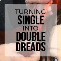 DIY: How to Turn Single Ended (SE) Dreads Into Double Ended (DE) Dreads