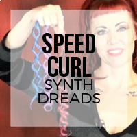 DIY: How to Speed Curl Synthetic Dreadlocks (Curling Rod Method)