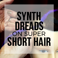How to Install Single Ended (SE) and Double Ended (DE) Synth Dreads on Super Short Hair