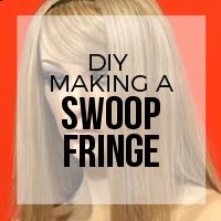 DIY: How to Create Hair Extension Bangs (Swoop Style)