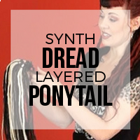 DIY: How to Create a Layered Synthetic Dreadlock Ponytail Using Double Ended Dreads