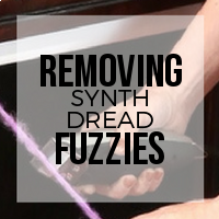 DIY: How to Remove Stray Fuzzies from Synthetic Dreadlocks (Trim Method)
