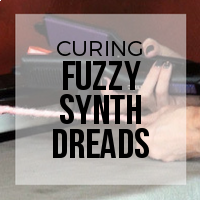 DIY: How to Remove Stray Fuzzies from Synthetic Dreadlocks (Knock Down Method)