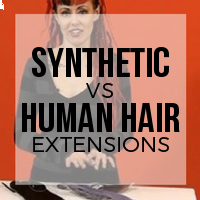 Synthetic vs Human Hair Extensions