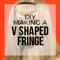 DIY: How to Create Hair Extension Bangs (V Style)