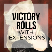 How to Create Victory Rolls with Hair Extensions Installed