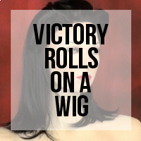 DIY: How to Create Victory Rolls on a Wig