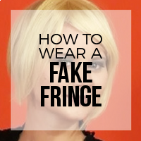 How to Wear Fake Hair Extension Bangs