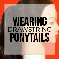 How to Wear a Drawstring Ponytail