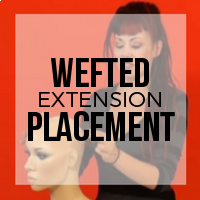 Placement for Wefted Hair Extensions
