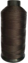 Close up of dark brown spool Dollylocks Super Nylon Thread