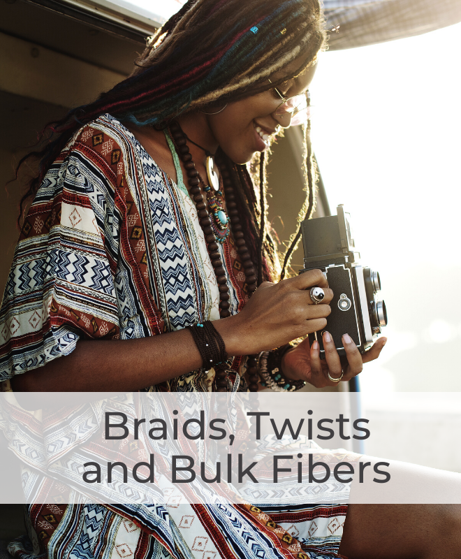 Braiding Hair Extensions for individuals, cornrows, crochet, latch hook and twists.