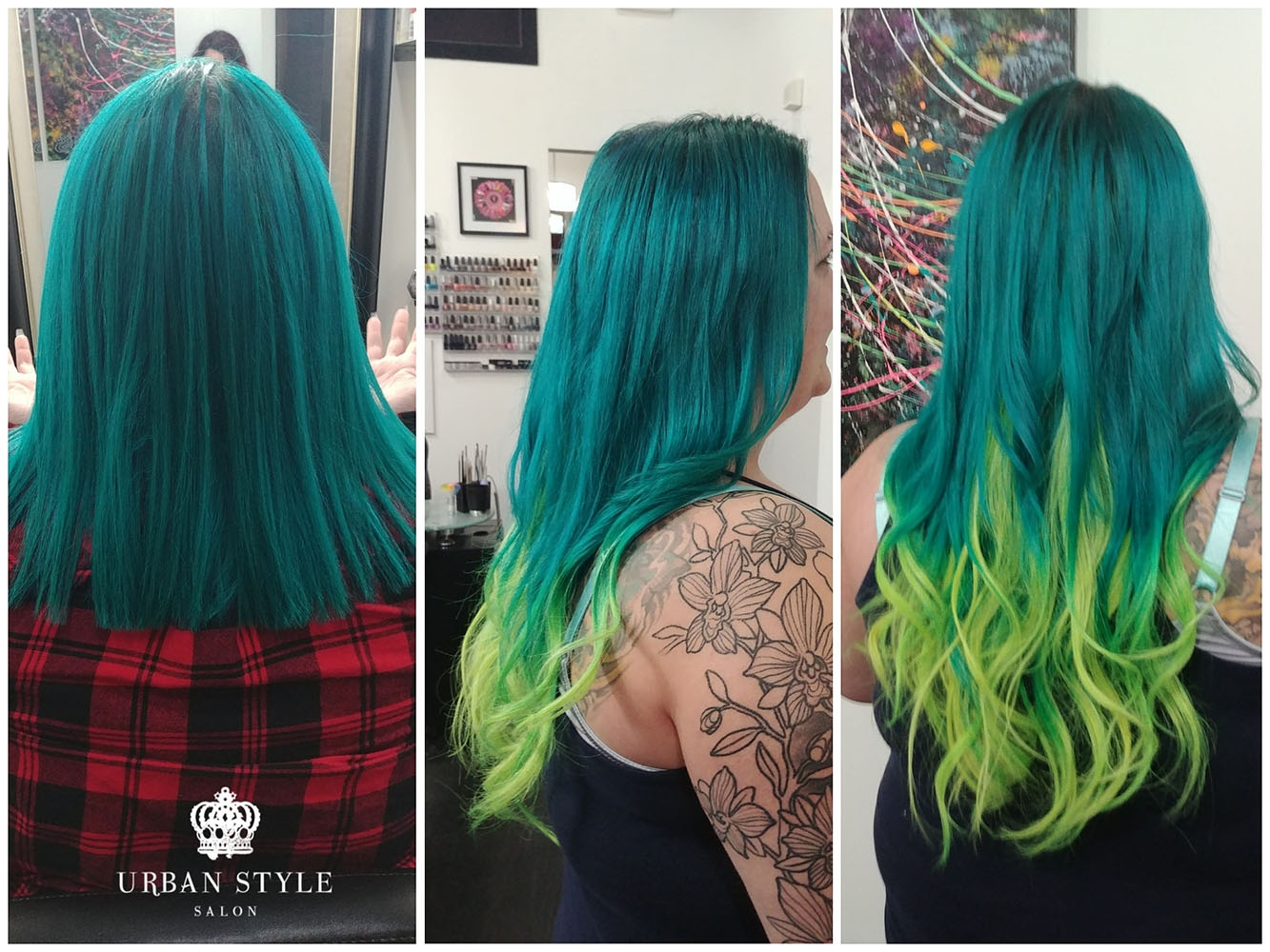 Tape-In Hair Extension Before and After