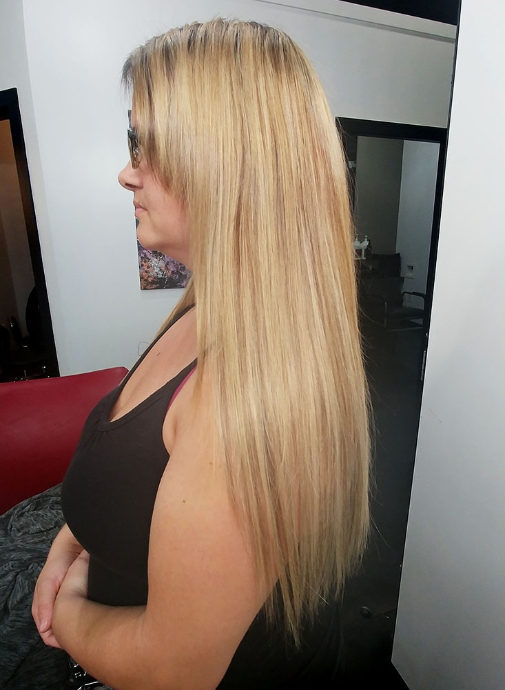 Flex-Tip Nano Hair Extension Before and After